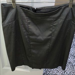 Bebe gray skirt with back zipper size 6
